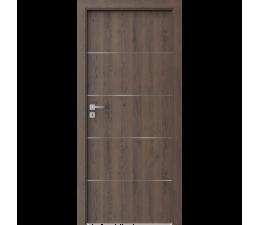DOOR SET Porta Resist E.1 gladstone dark oak '70' + frame 95-115mm