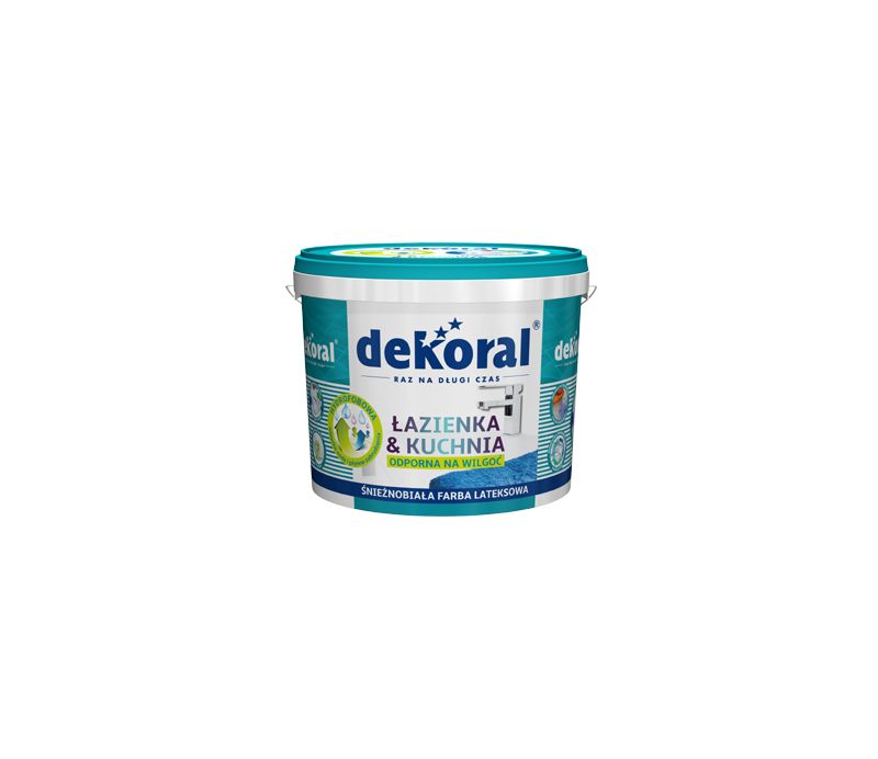 Dekoral White Paint For Kitchens And Bathrooms 10l