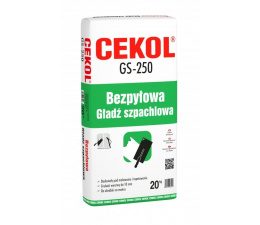 Cekol GS-250 dustless plaster 20kg