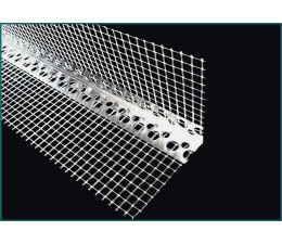 Corner aluminium with mesh  3 m